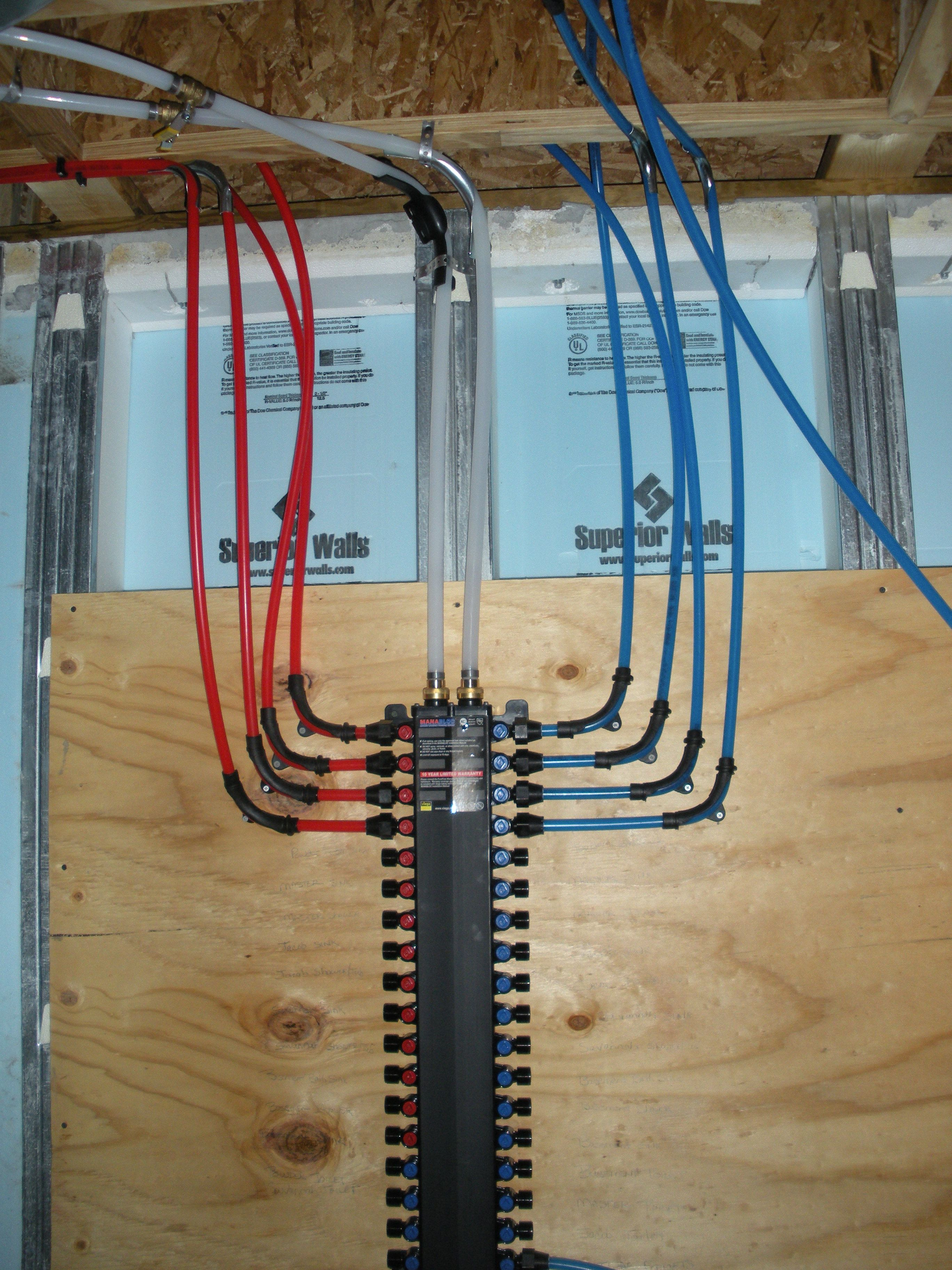 Best pex plumbing manifold google search plumbing for Best pipe for water lines