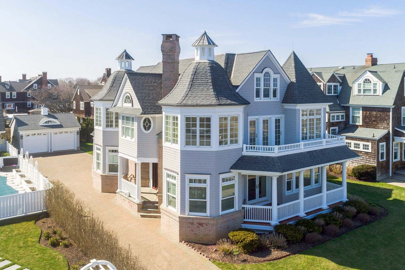 Cute 2 Car Detached Garage Design With Arched Dormer Gray Siding With White Trim Detached Garage Designs Detached Garage Garage Door Styles