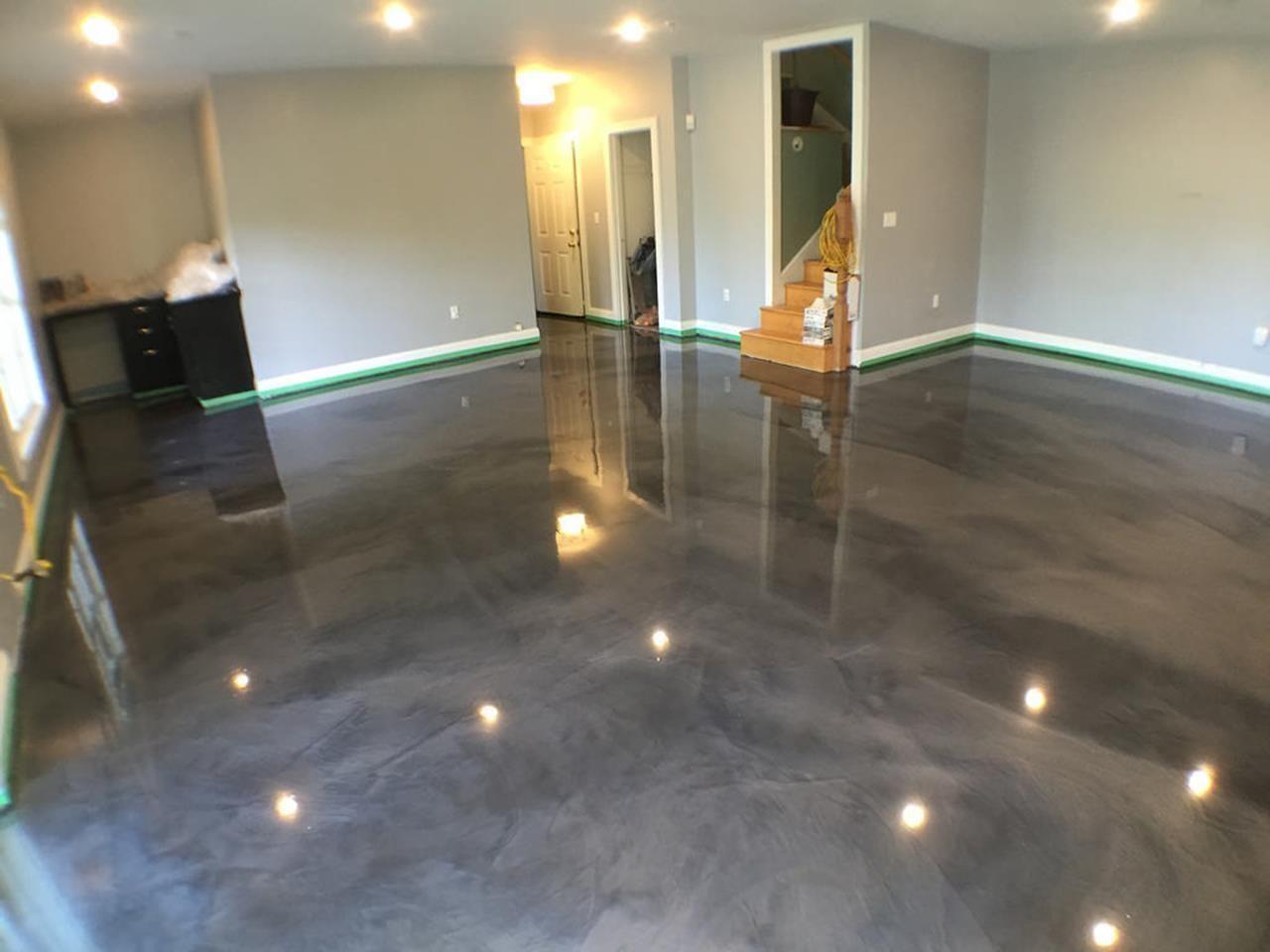 Basement Concrete Floor Paint Color Ideas 2 Basement Concrete