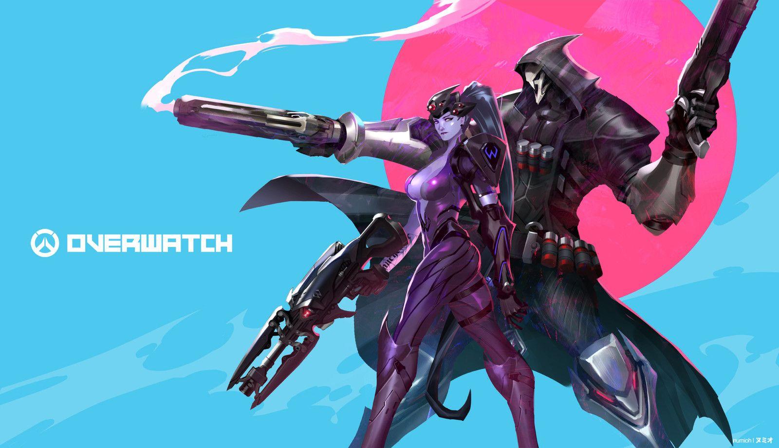 Dual Monitor Wallpaper Overwatch: Widow Maker & Reaper, Hoi Mun On ArtStation At
