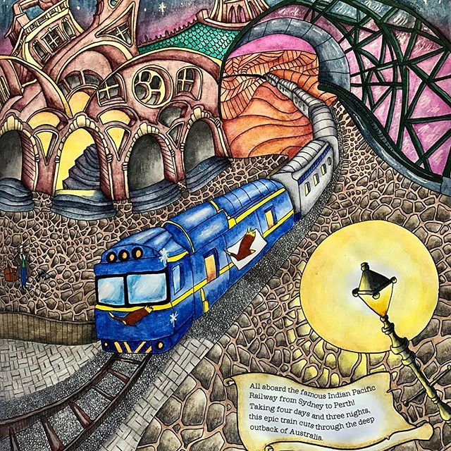 Indian Pacific Departure From The Magical Journey Lizziemarycullen Arte E Colorir Artecom Enchanted Forest Coloring Book Magical Book Enchanted Forest Book