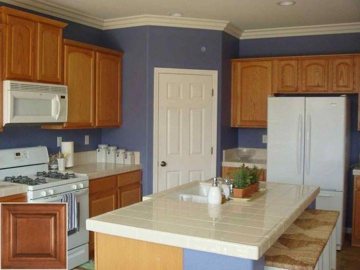 Guidelines on - oak cabinets with gray backsplash. # ...