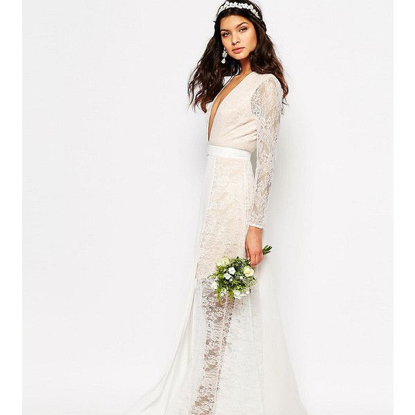 Fame and Partners Bridal Laced Heaven Maxi Dress With Split (£92 ...