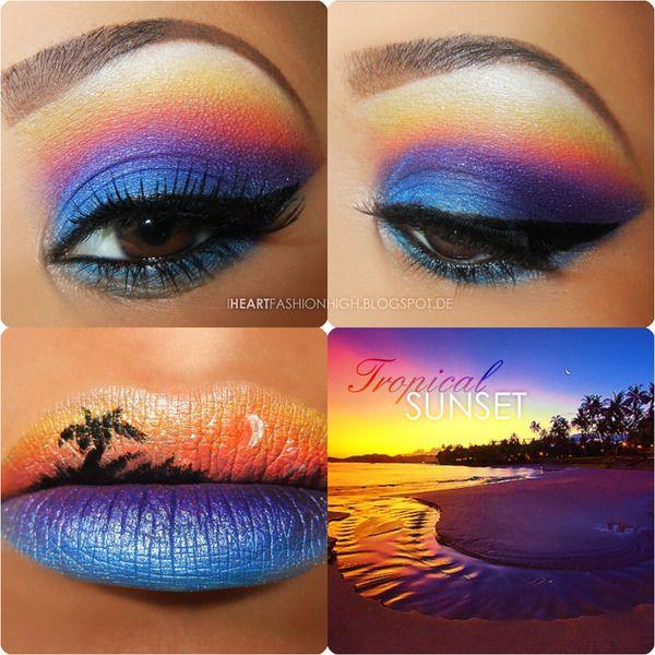 Тропический макияж фото