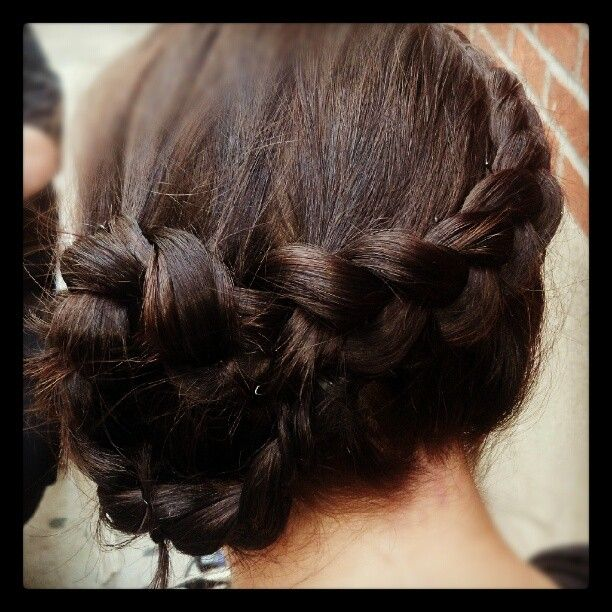 Outside french flower braid hair style updo