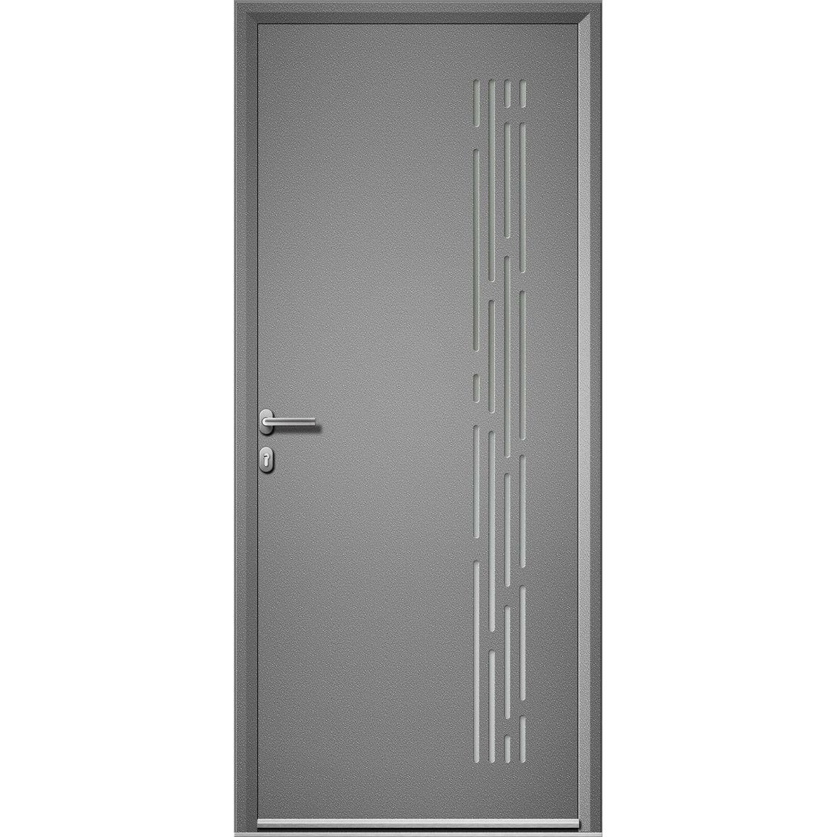 Porte Entree Vitree Leroy Merlin concernant porte entrée maison aluminium nordfolk artens poussant gauche, h215