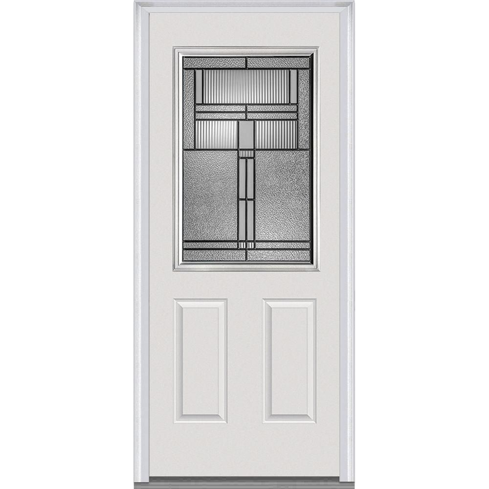 Milliken Millwork 32 In. X 80 In. Brighton Decorative Glass 1/2 Lite