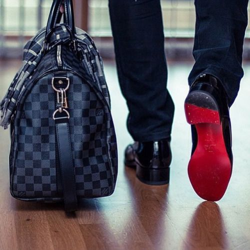 c4e4379ac1d A perfect pairing  Louis Vuitton   Christian Louboutin.