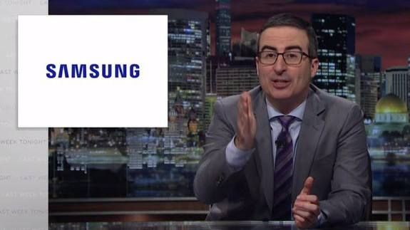 John Oliver's hot take on Samsung wasn't shown in India