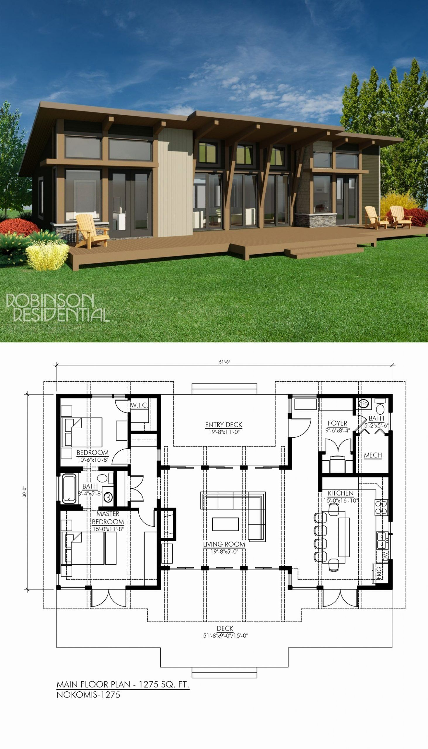 2 Bedroom Contemporary House Plans Elegant Contemporary Nokomis 1303 In 2020 Vacation House Plans Modern Style House Plans Contemporary House Plans