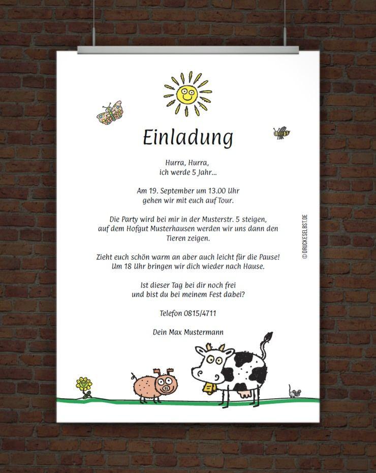 lustige geburtstagseinladung zum ausdrucken | kids stuff, Einladungsentwurf