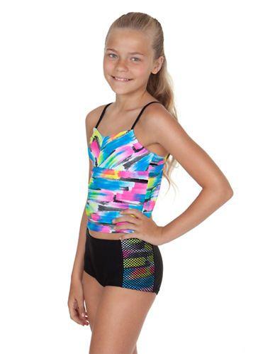 648d4de5a0f Kids' | Swimwear | Girls 7-16 Paintbrush Print Tankini | Lord and Taylor
