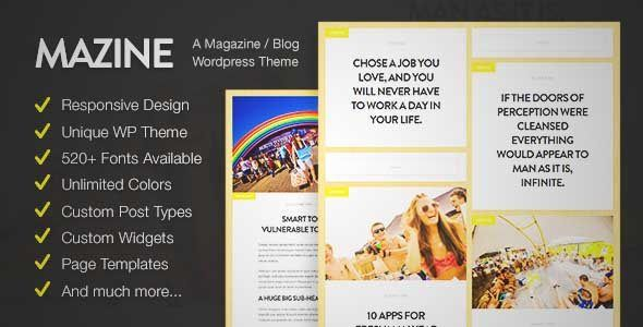 Download And Review Of Mazine Magazine Blog WordPress Theme One Of The Best Themeforest Magazine Blogs Themes