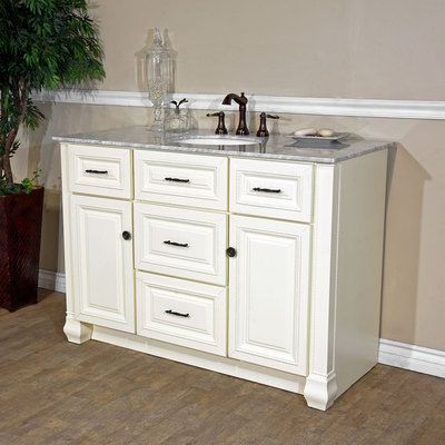 Bellaterra Home 50 in Single sink Solid Wood Bathroom Vanity