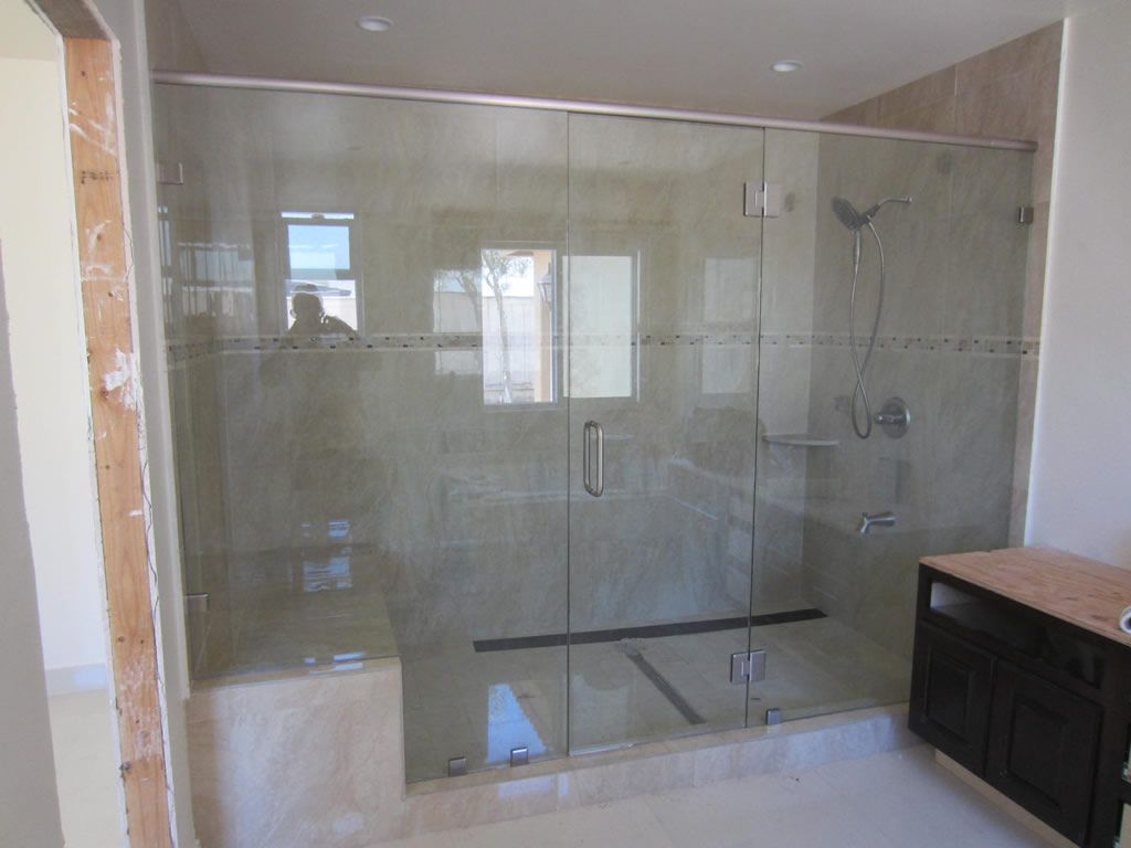 bathroom glass showers | Large Shower Enclosure - Patriot Glass and ...
