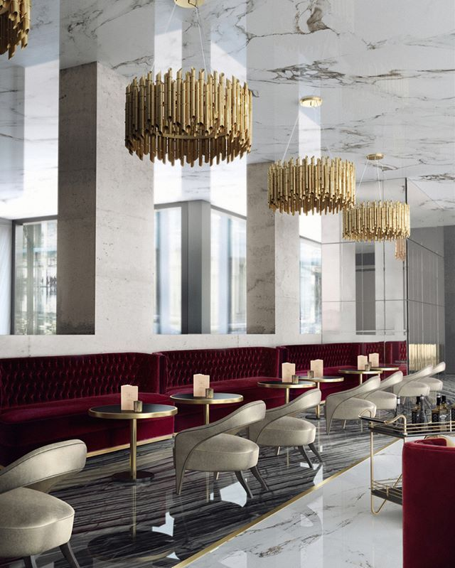 Light fixtures are so important for  good restaurant design featured here the brubeck round chandeliers inspired by one of foremost exponents also delightfull has amazing pieces commercial clients rh in pinterest