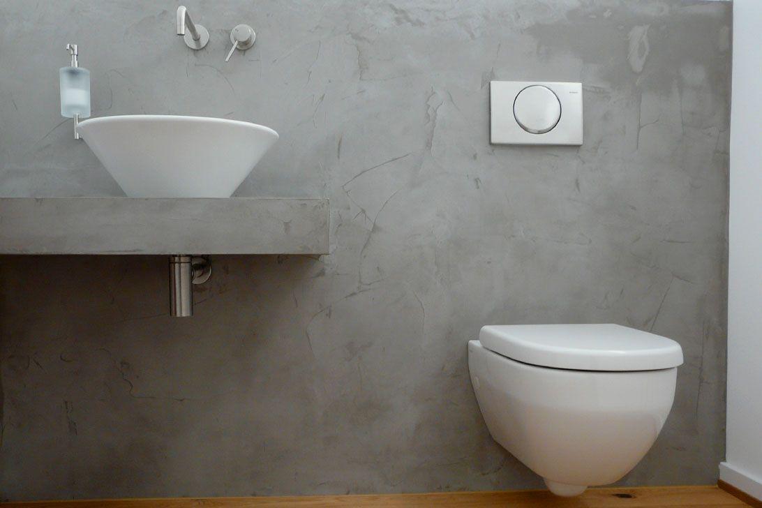 LifeBoXX - Beton Ciré Toiletten- und Waschtisch-Vorbau in ...