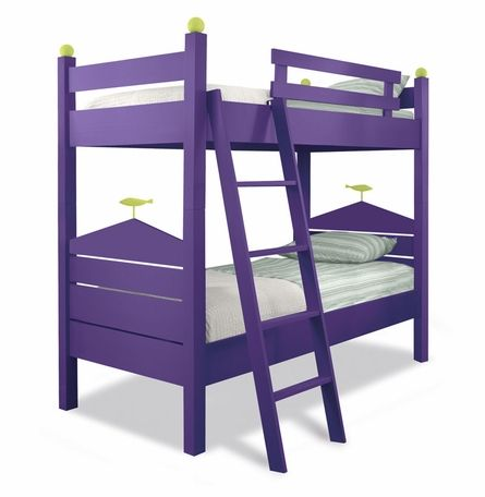 Purple Bunk Beds Sarah Wants Lime Green Sheets With Bright Pink Accents