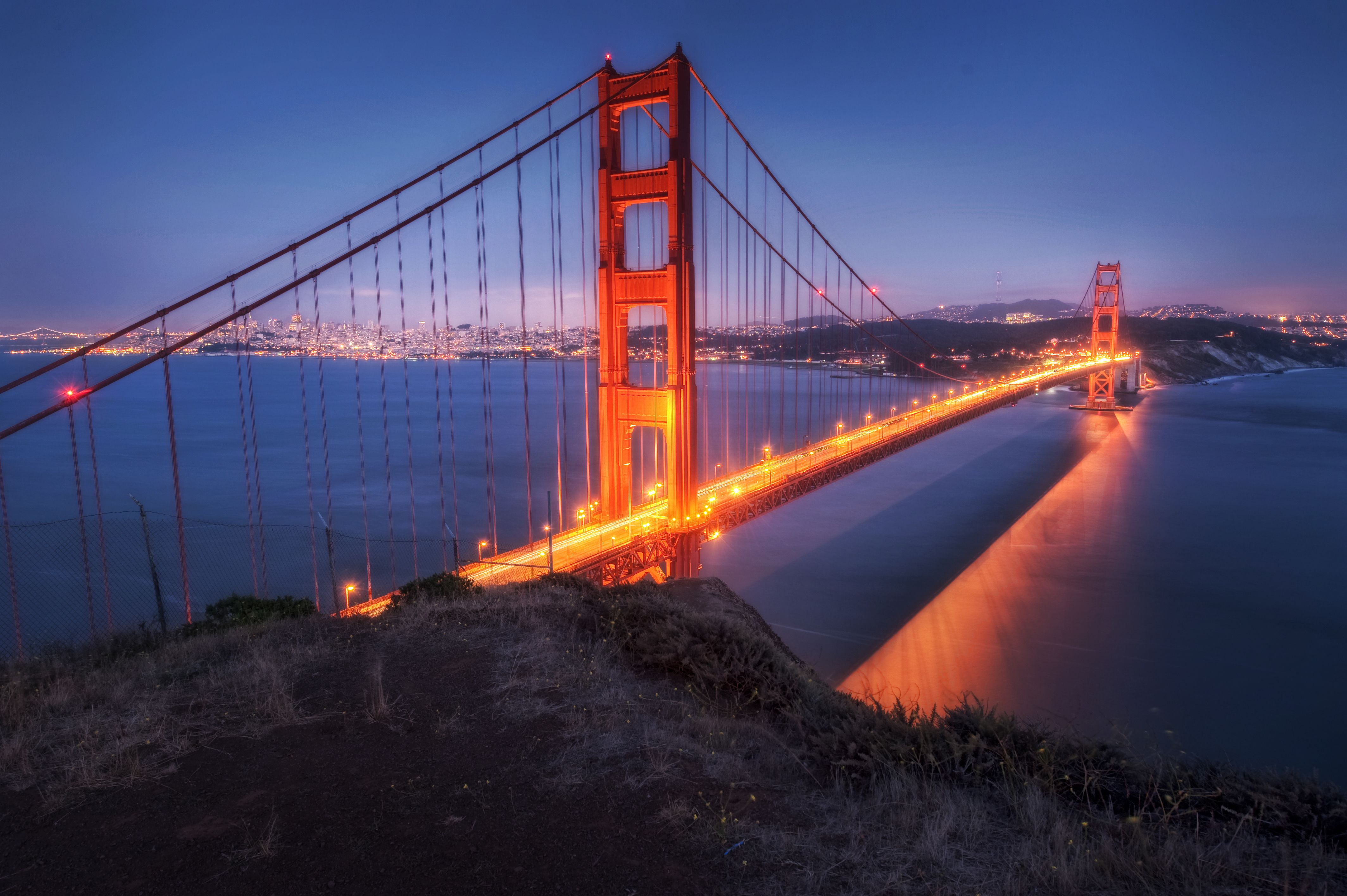 Fog Over Golden Gate Bridge HD Desktop Wallpaper for K Ultra