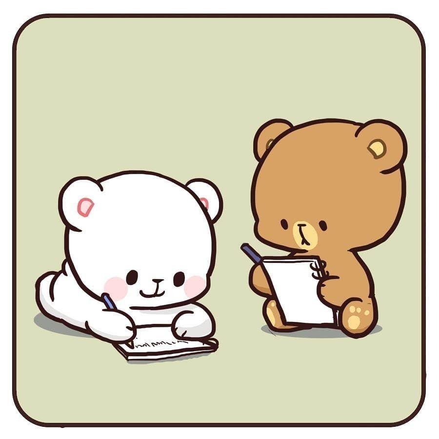 Pin By Maddie Woodcock On Milk Et Mocha Cute Bear Drawings Cute Love Gif Cute Couple Cartoon