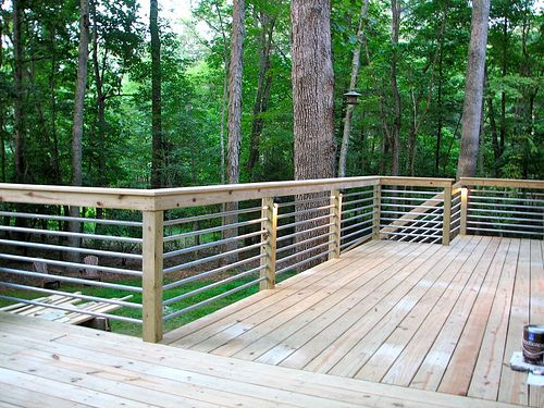 Galvanized pipe deck rail