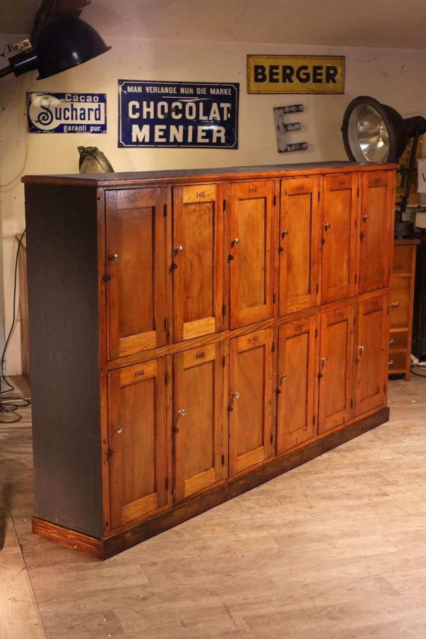 meuble de metier ancien casier d 39 cole home sweet home pinterest meuble de metier meuble. Black Bedroom Furniture Sets. Home Design Ideas