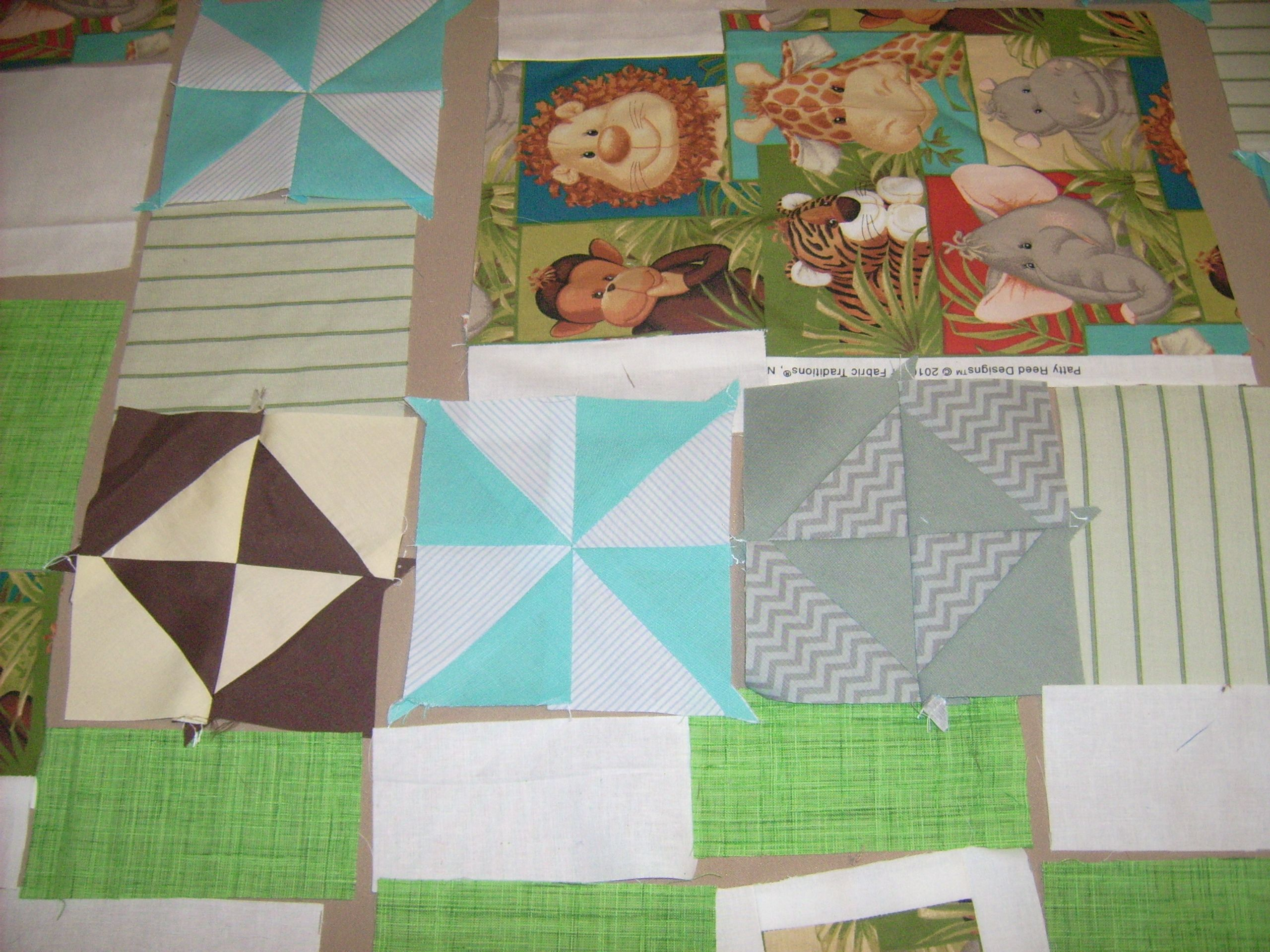 Baby Quilt w/Animals & Hour Glasses & PinWheels | Quilting ... : quilting information - Adamdwight.com