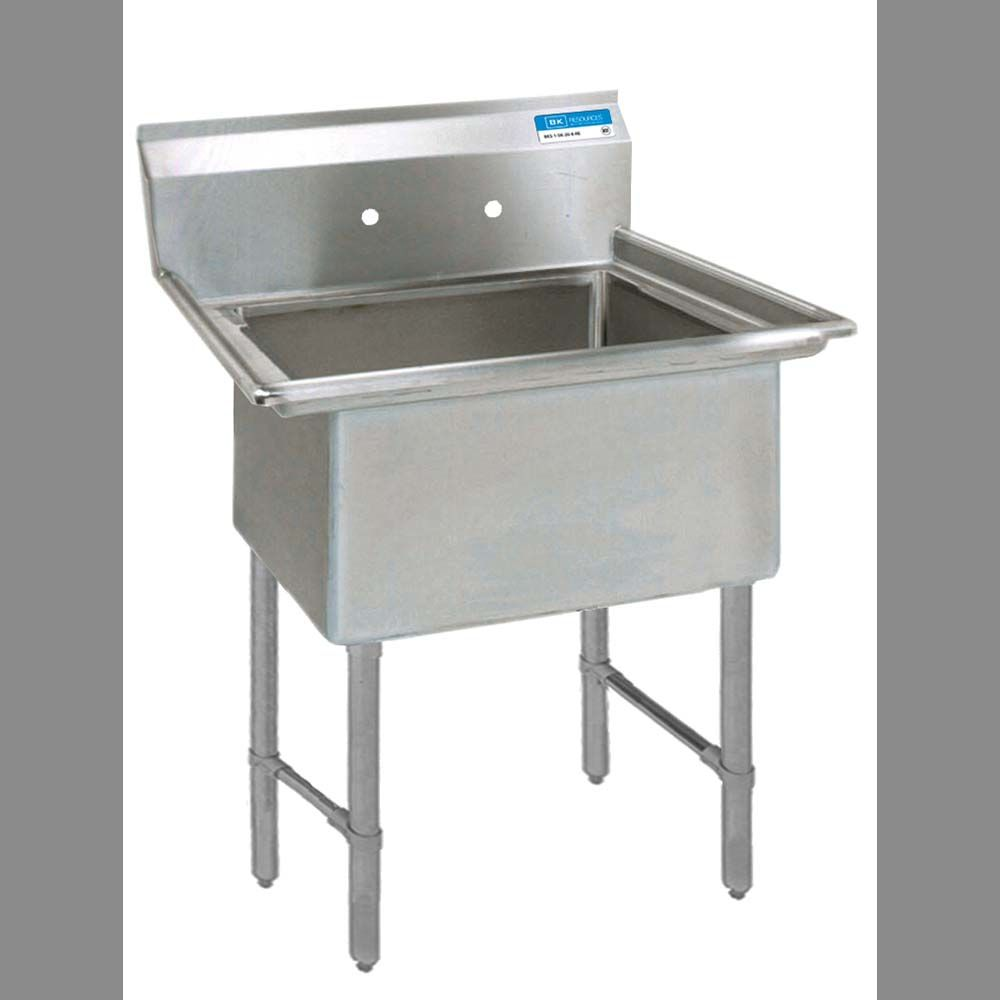 Bk Resources Bks6 1 1620 14s One Compartment Sink 16 X 20 X 14 Deep Single Bowl Kitchen Sink Stainless Steel Utility Sink Mop Sink