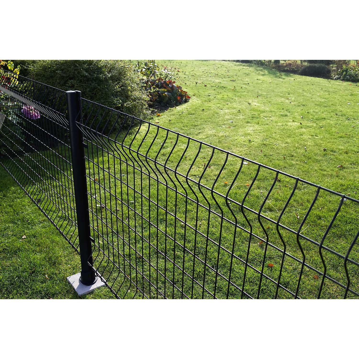 Panneau Grillage Noir H 1 43 X L 2 M Maille H 100 X L 55 Mm Leroy Merlin Cloture Jardin Cloture Maison Grillage Rigide