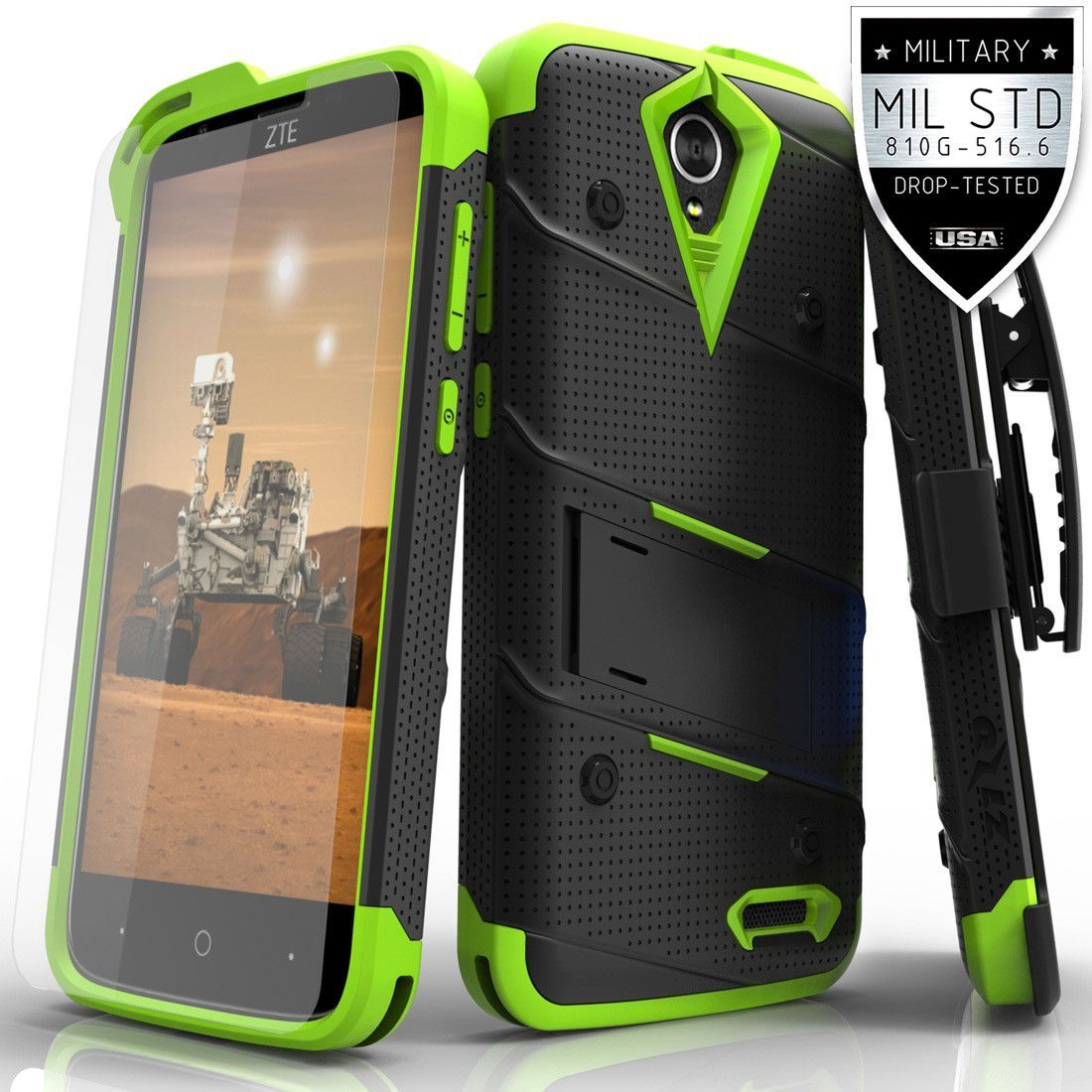 ZTE Grand X 3 Z959 Military Grade Drop-Tested Case with Tempered