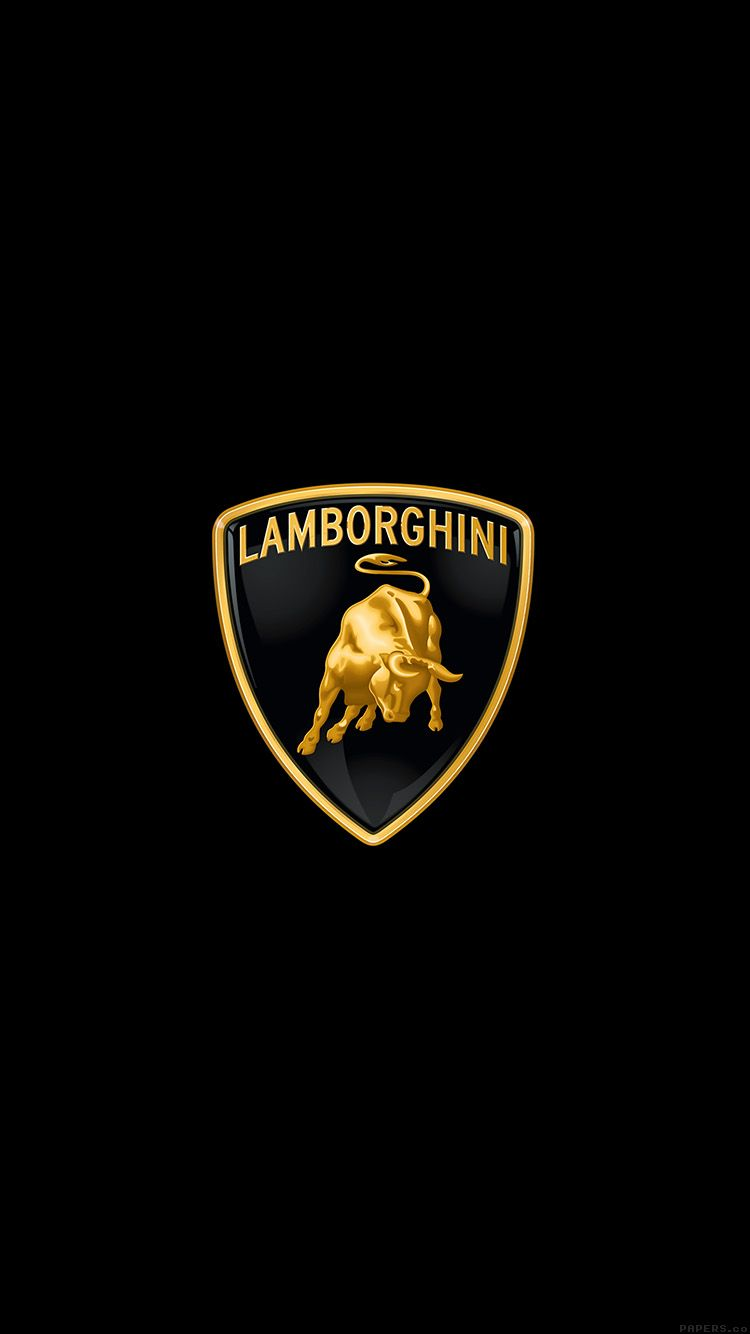 LAMBORGHINI LOGO ART CAR MINIMAL DARK WALLPAPER HD IPHONE