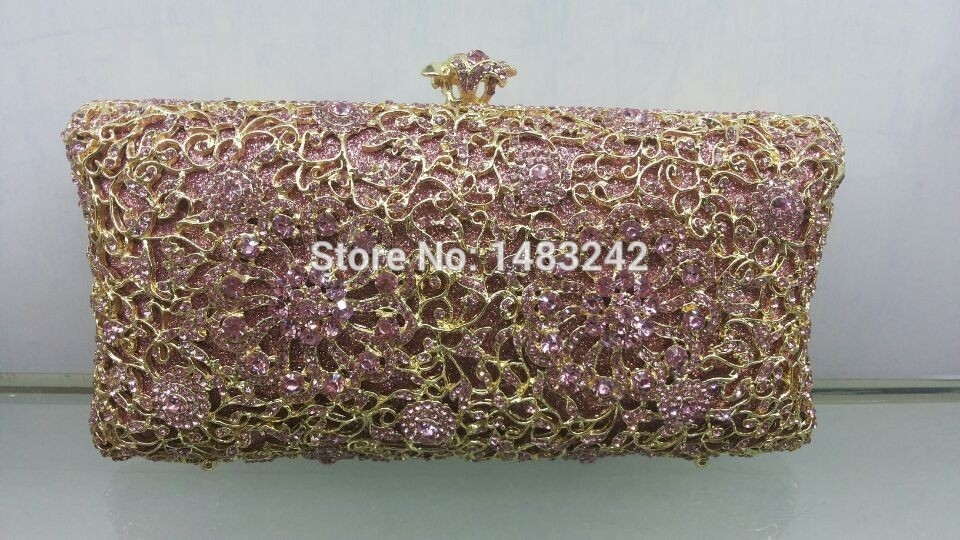 109.25$  Watch here - http://ali382.worldwells.pw/go.php?t=32282091849 - Free shipping !! A15-7,pink color fashion top crystal stones ring clutches bags for ladies nice party bag