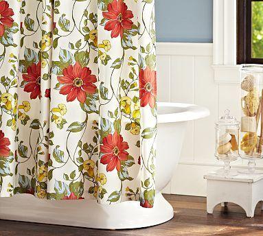 Sophia Organic Shower Curtain #potterybarn - maybe to coordinate ...
