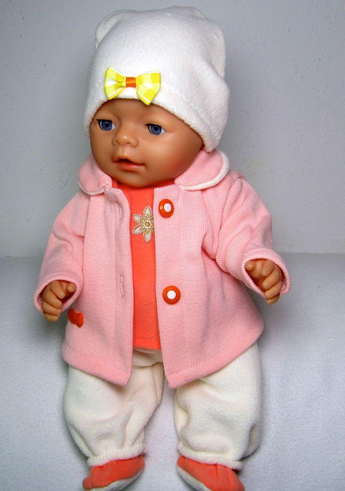 Babypuppen & Zubehör Kleidung & Accessoires 43-45 cm Handarbeit neu Hängerchen und Hose für Puppen Gr