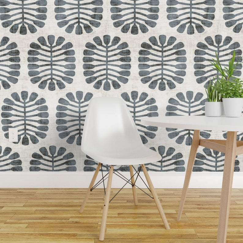 Seed Wallpaper Seeded Slate Large By Holli Zollinger Seed Etsy Removable Wallpaper Wallpaper Roll Peel And Stick Wallpaper