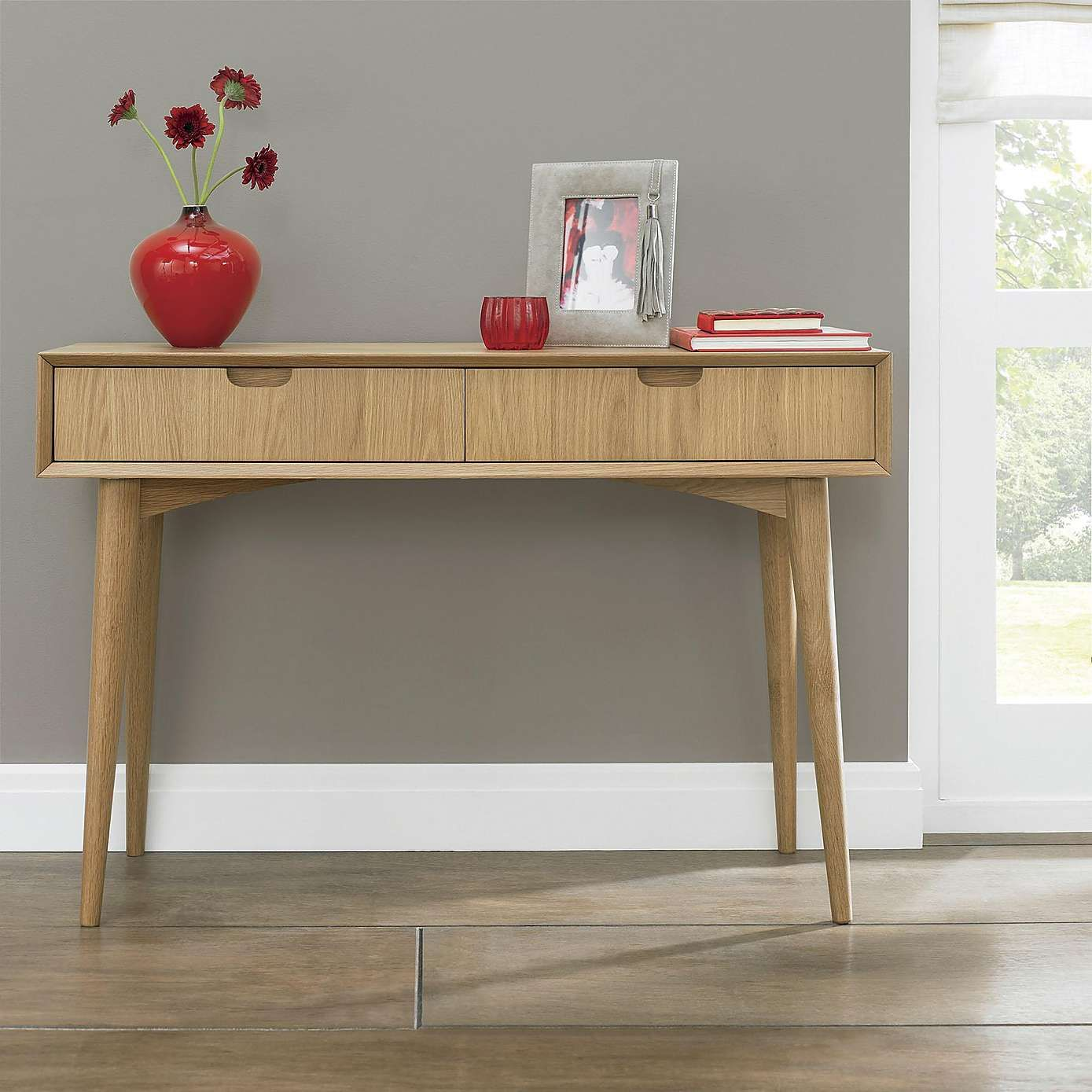 Skandi Oak Console Table with Drawer | Dunelm | Ideas for the House ...