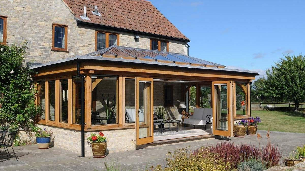 Quality Oak Framed Orangeries And Conservatories David Salisbury Building A Shed Roof Thatched Cottage Orangery Extension
