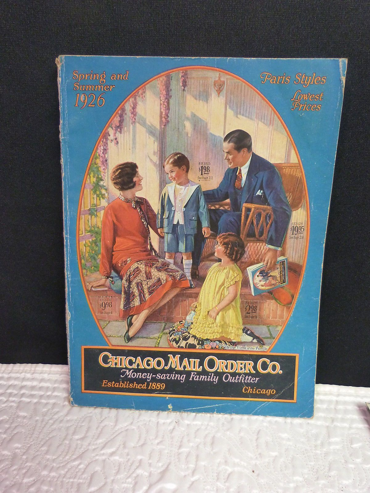 9716188a00f Vintage 1926 Spring Summer Chicago Mail Order Co Paris Styles Catalogue  Original