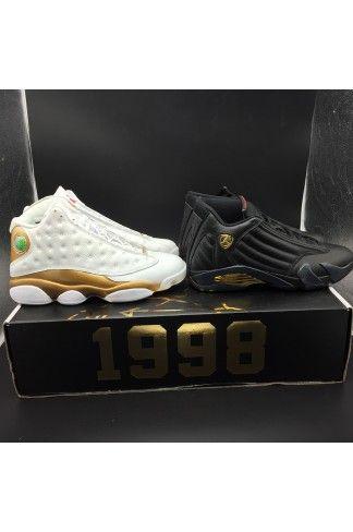 official photos cbd34 545ce Cheap Authentic Air Jordan 13 14 DMP Finals Pack Defining Moments Pack