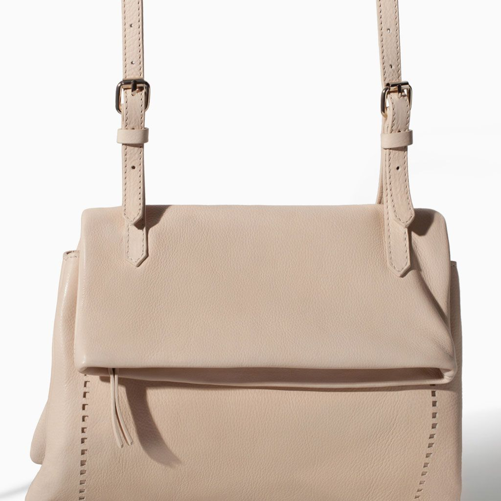 Image 5 of LEATHER MESSENGER BAG from Zara
