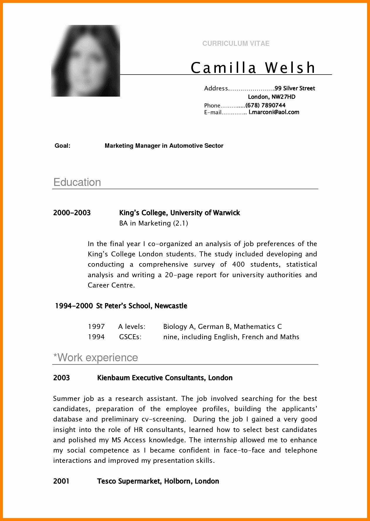 Pin By Editha Pastorite On Biodata Student Resume Template Student Resume Cover Letter For Resume