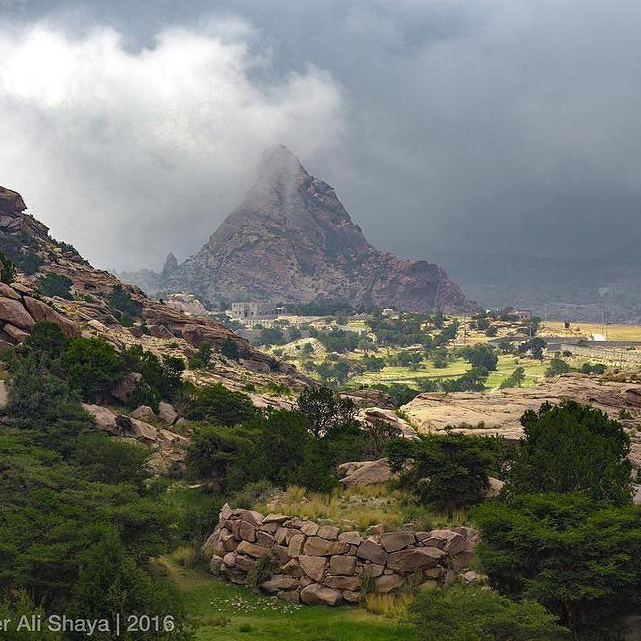 من تنومة الرائعة بمنطقة عسير حيث الطبيعة الخضراء والأجواء المعتدلة عدسة علي شايع السياحة السعودية Landscape Nature Natural Landmarks