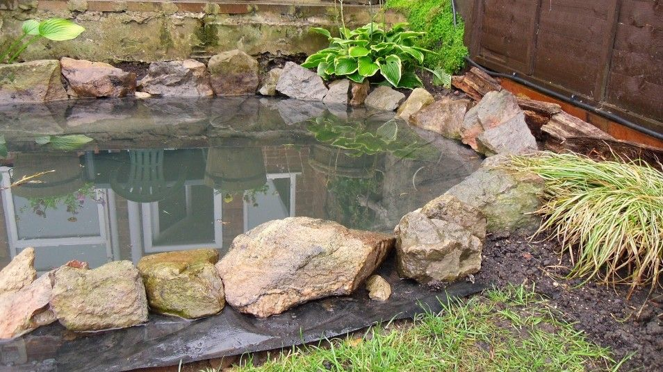Pretty and small backyard fish pond ideas at decor for Garden pond edging