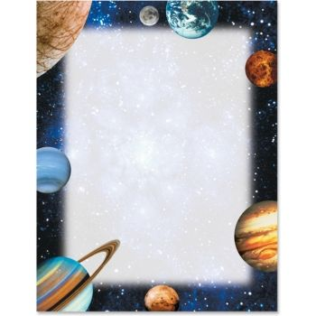 Planetarium border papers teacher for Outer space paper