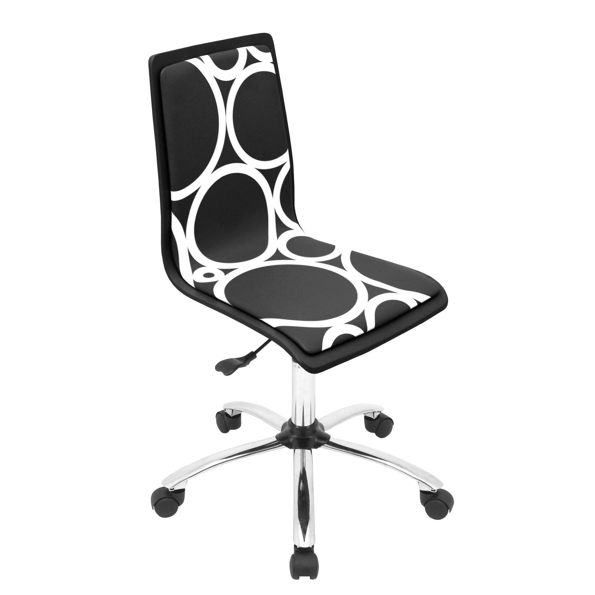 Printed Office Chair Black Circles
