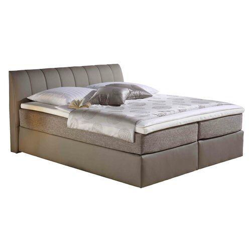 Boxspringbett Chorico Home Loft Concept Farbe Taupe Liegeflache 160 X 200 Cm Matratze Hartegrad 7 Zonen Tonnentaschenfederkern Matratze H3 Bedroom Vintage Minimalist Furniture Bedroom Furniture