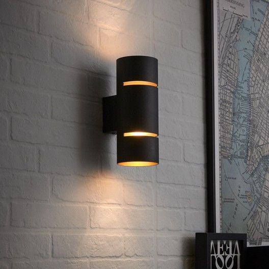 Applique Neoclassic Metal Noir Cuivre Led Integre Inspire Tubbo Wall Lights Lamp Light Wall