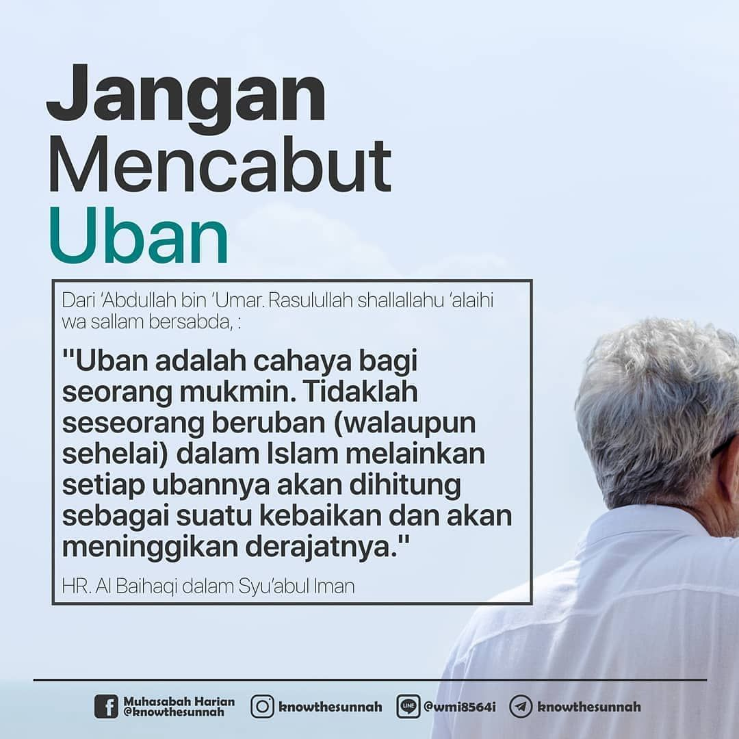 Download Wallpaper Larangan Mencabut Uban Dalam Islam