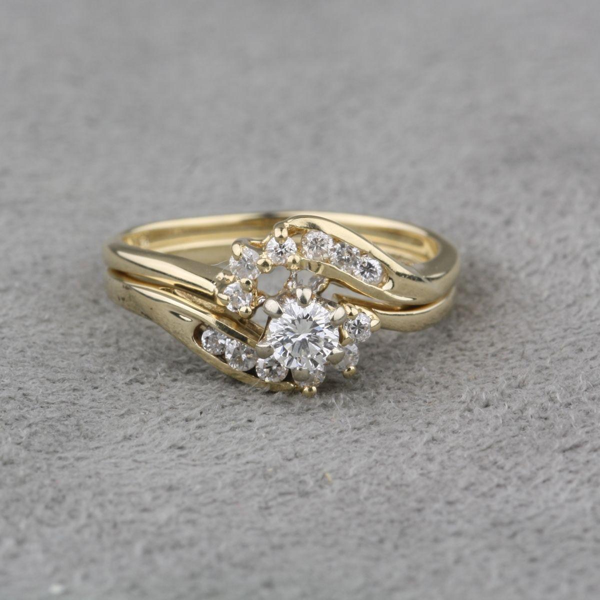 PreOwned Diamond Engagement Ring and Diamond Wrap