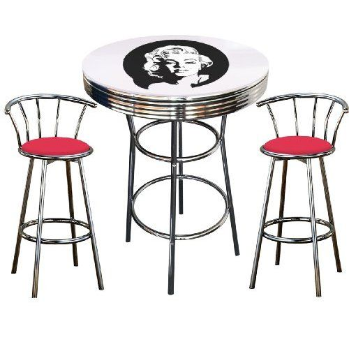 Marilyn monroe table and chairs for the home pinterest explore bar table sets pub tables and more watchthetrailerfo